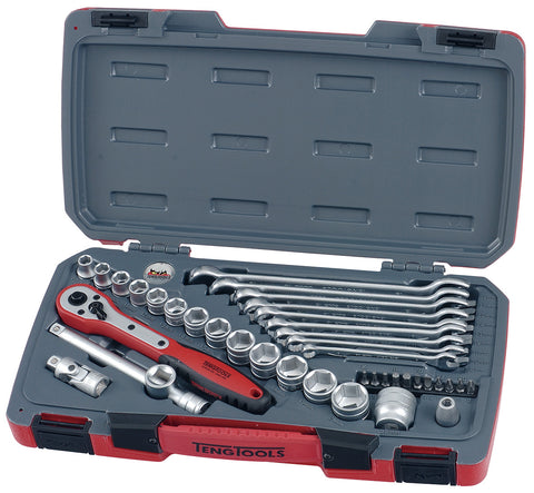 "39PC 3/8"" Drive Socket And Spanner Tool Set"