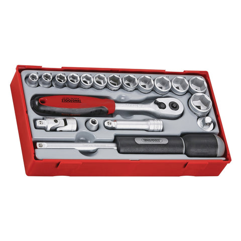 19PC 3/8'' Drive Socket Tray