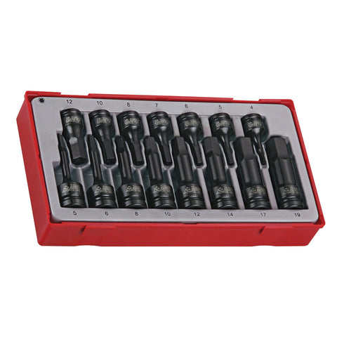 "15PC 3/8"" & 1/2""Drive Hex Impact Socket Set"