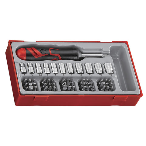 64PC Angled Ratcheting Screwdriver Set