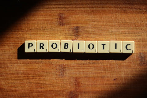 """tiles spelling out """"probiotic"""""""
