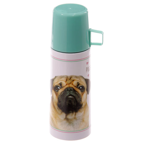 Pugs&Kisses Thermosflasche Mops