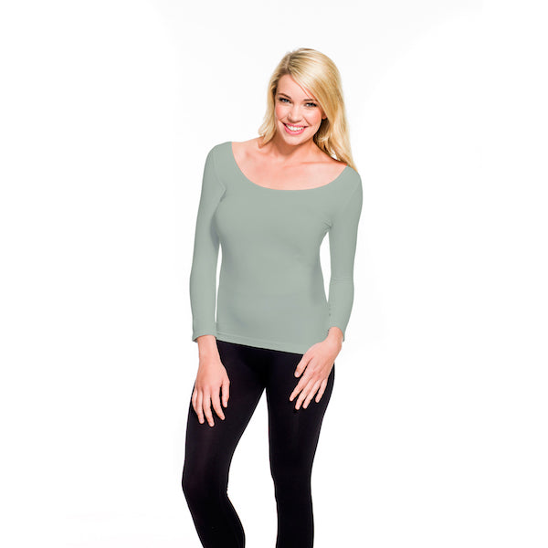 3/4 Sleeve Scoop Neck Tee