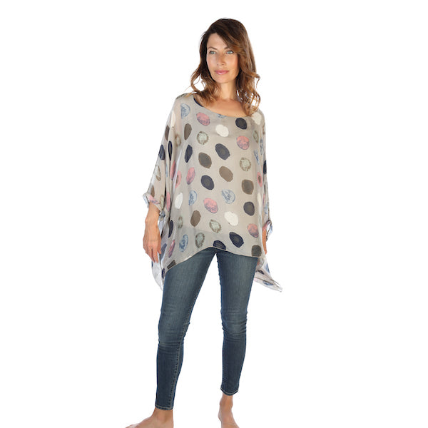 Silk Draped Circle Top