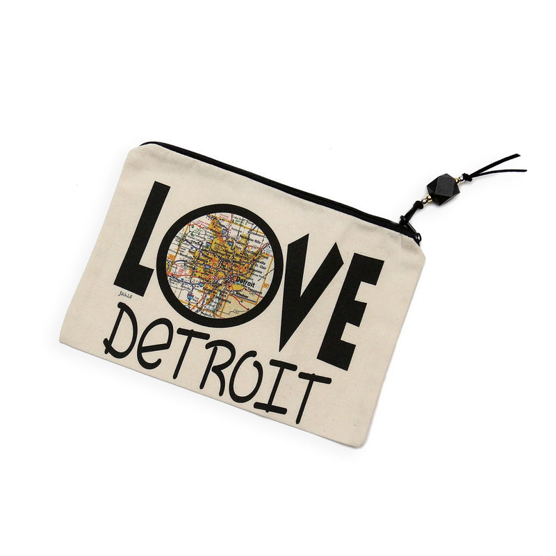 Detroit Canvas Pouch