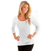Long Sleeve Scoop Burnout On Sale