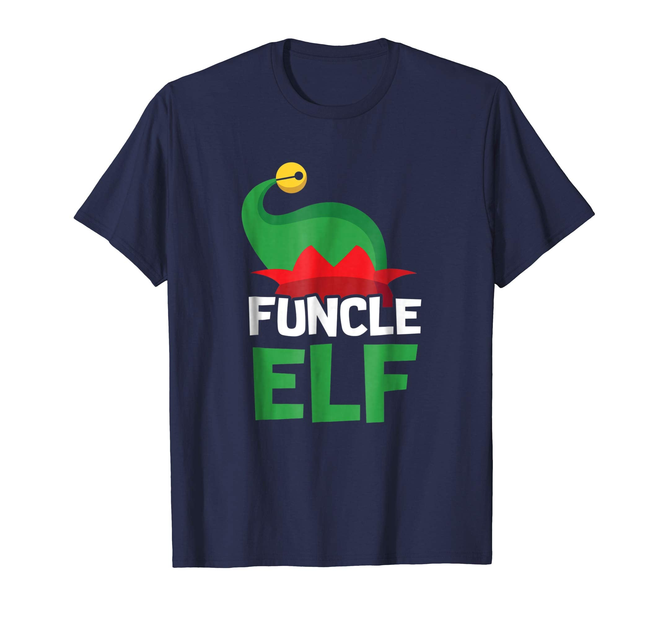 Mens Funcle ELF Christmas T-Shirt - Uncle Aunt Matching Tees