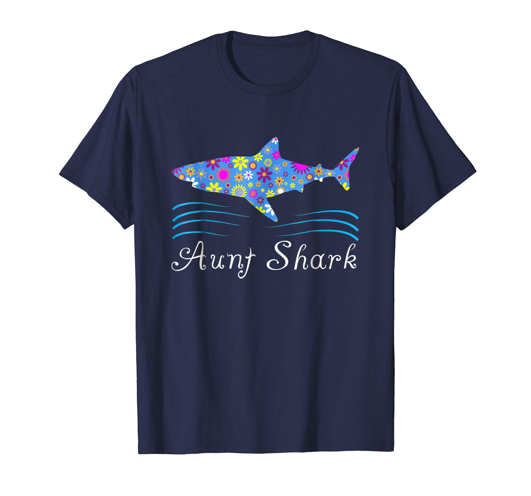 Aunt Shark Shirt - Cute Floral Gift Idea
