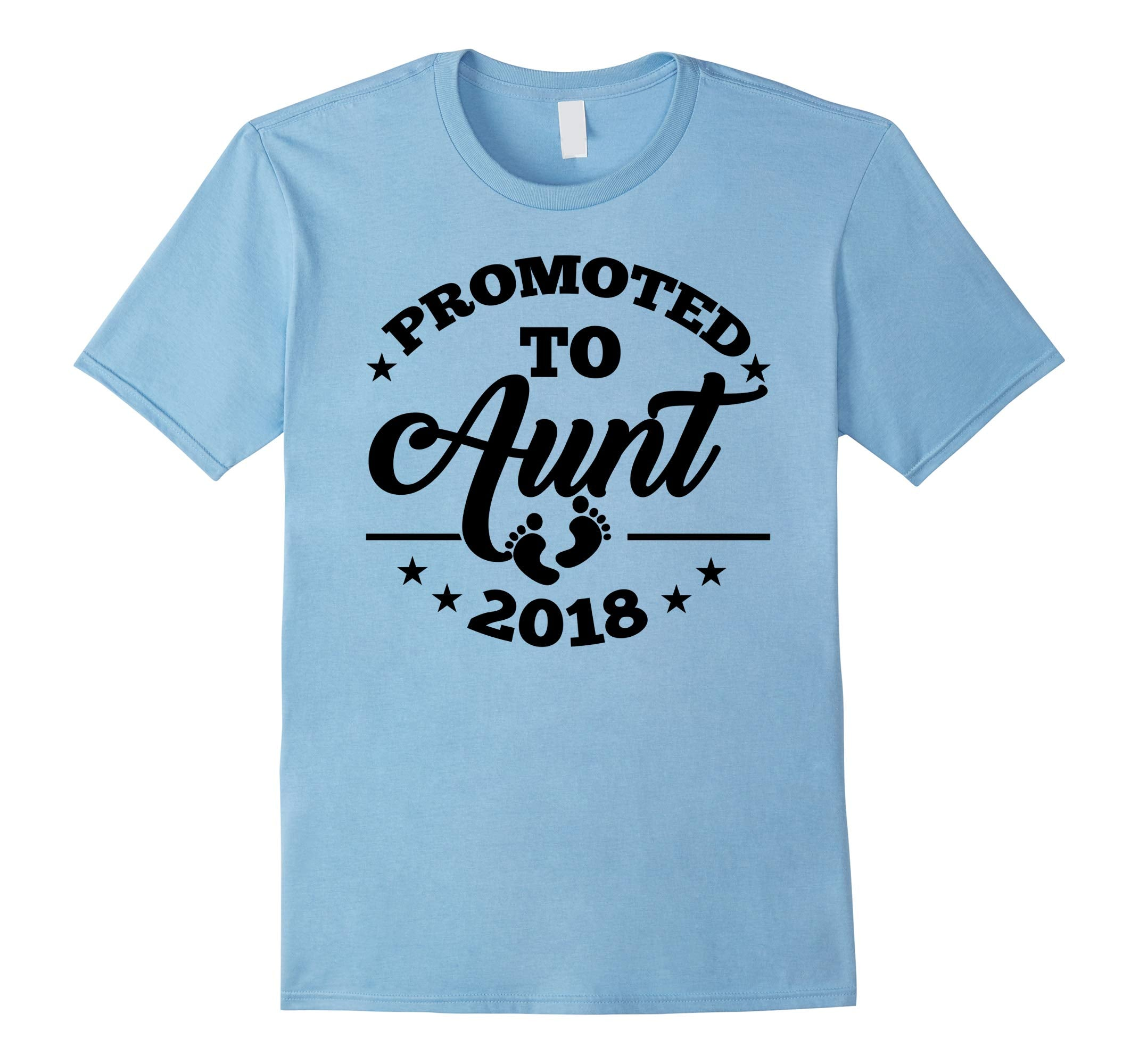 Promoted To Aunt 2018 Shirt | New Aunt Announcement T-Shirt