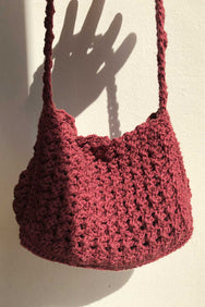 arkitaip Bags Bordeaux The Carlotta Crochet Bag