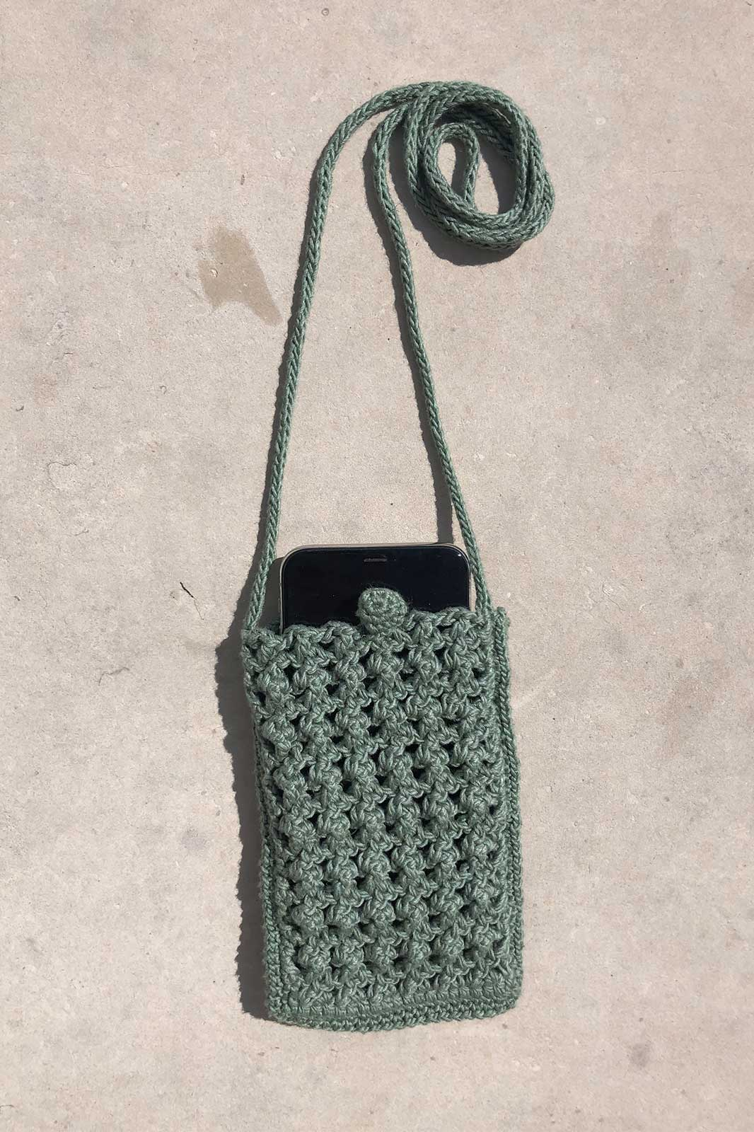 arkitaip Bags Moss The Candela Crochet Phone Case