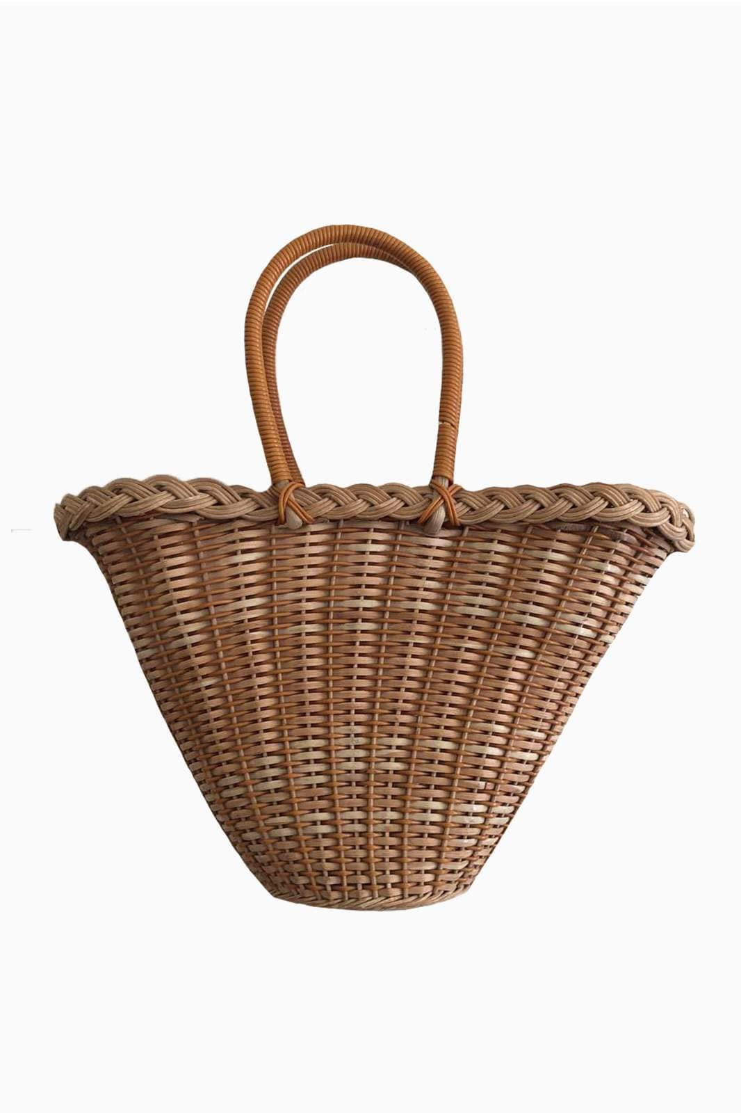 arkitaip Bags Mustard The Etta Vintage Wicker Basket Bag