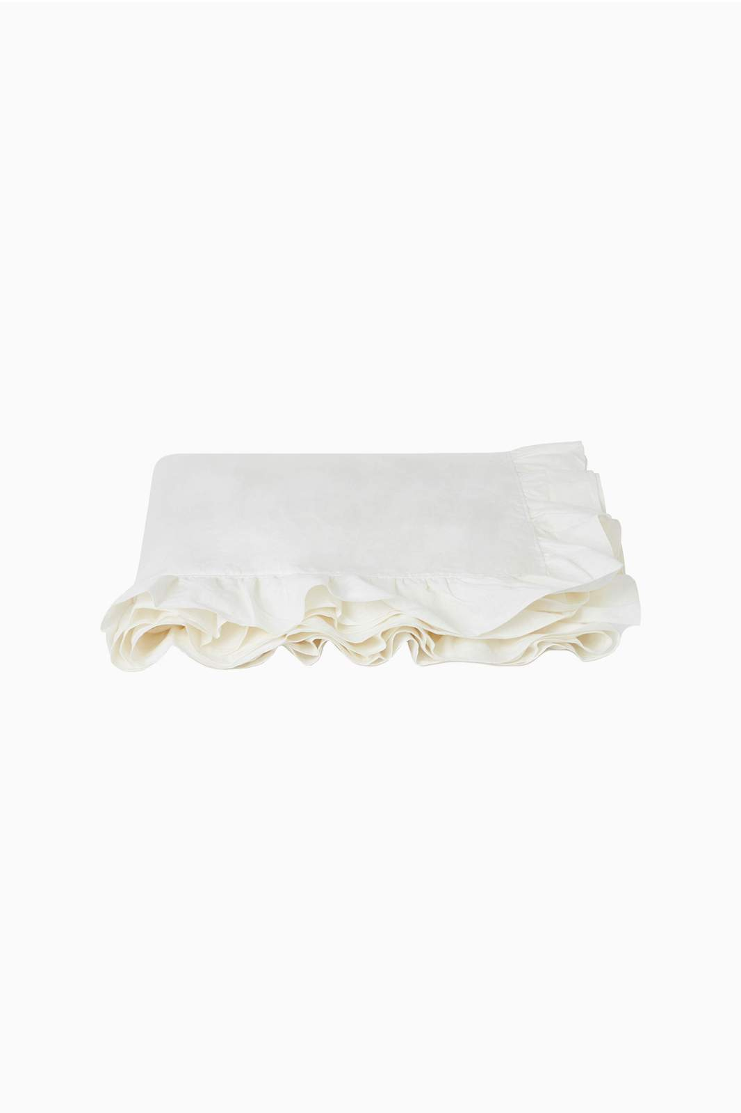 arkitaip Bedding 180 x 260cm / White The Ruffled Casita Linen Flat Sheet in White