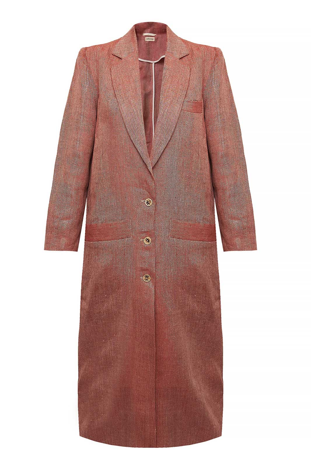 arkitaip Coats The Peppi Duster Coat in Ruby Red