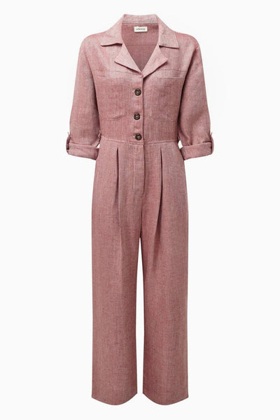 arkitaip Jumpsuits The Serra Boiler Suit in Ruby Red