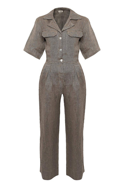arkitaip Jumpsuits The Zeynep Boiler Suit in Khaki