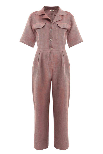 arkitaip Jumpsuits The Zeynep Boiler Suit in Ruby Red