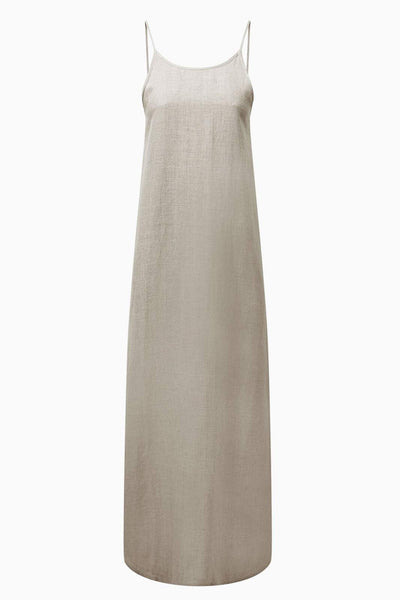 arkitaip Maxi Dresses The Trude Linen Slip Dress in Oatmeal