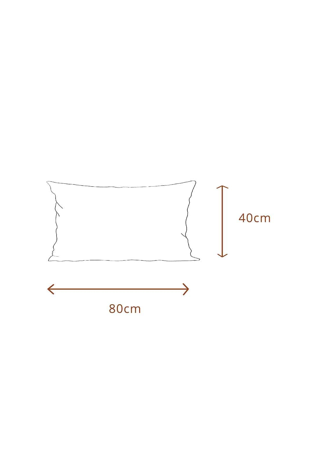 arkitaip Pillowslips 40 x 80cm / White The Ruffled Casita Linen Pillowslips Set in White