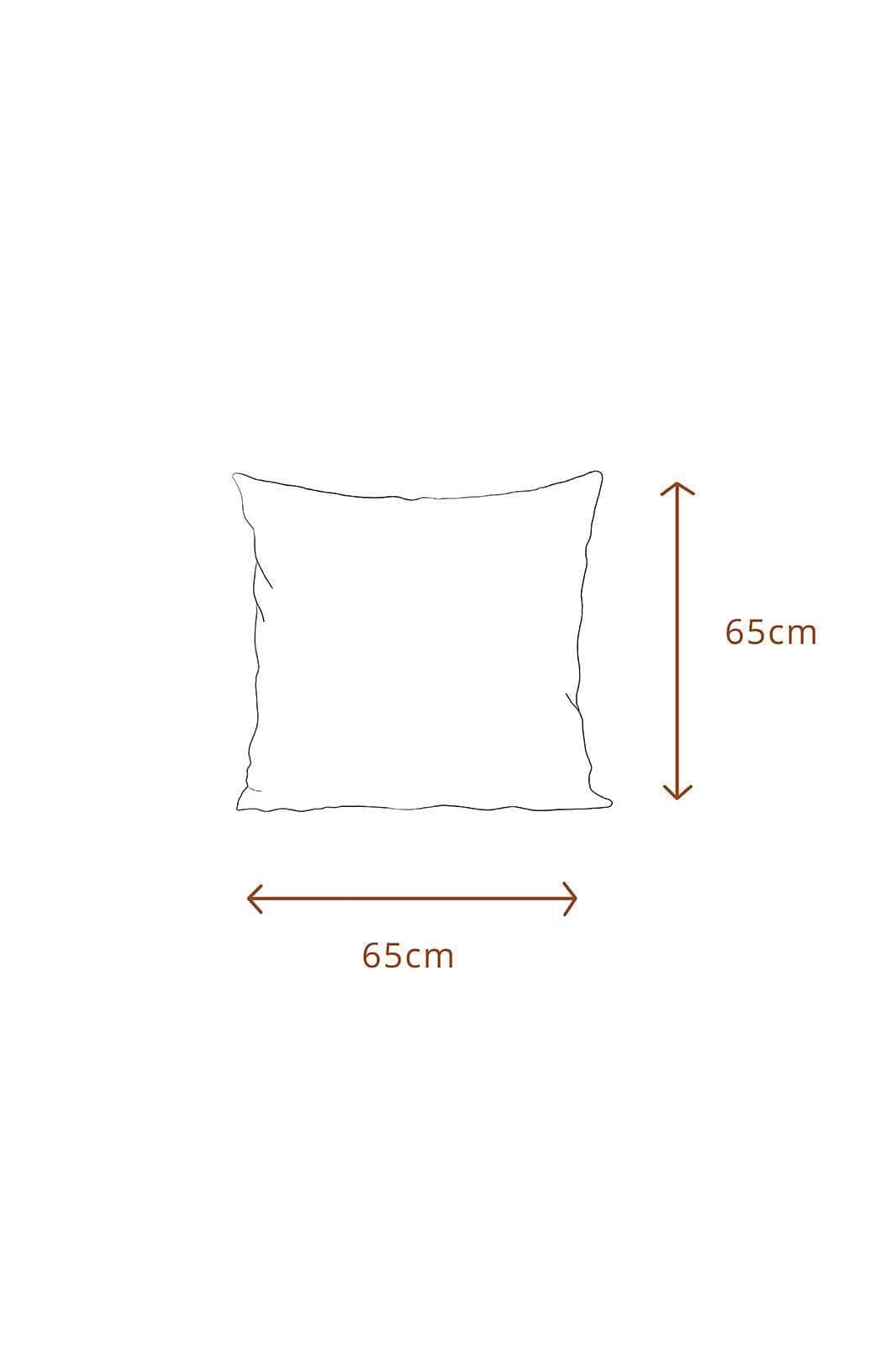 arkitaip Pillowslips 65 x 65cm / White The Ruffled Casita Linen Pillowslips Set in White