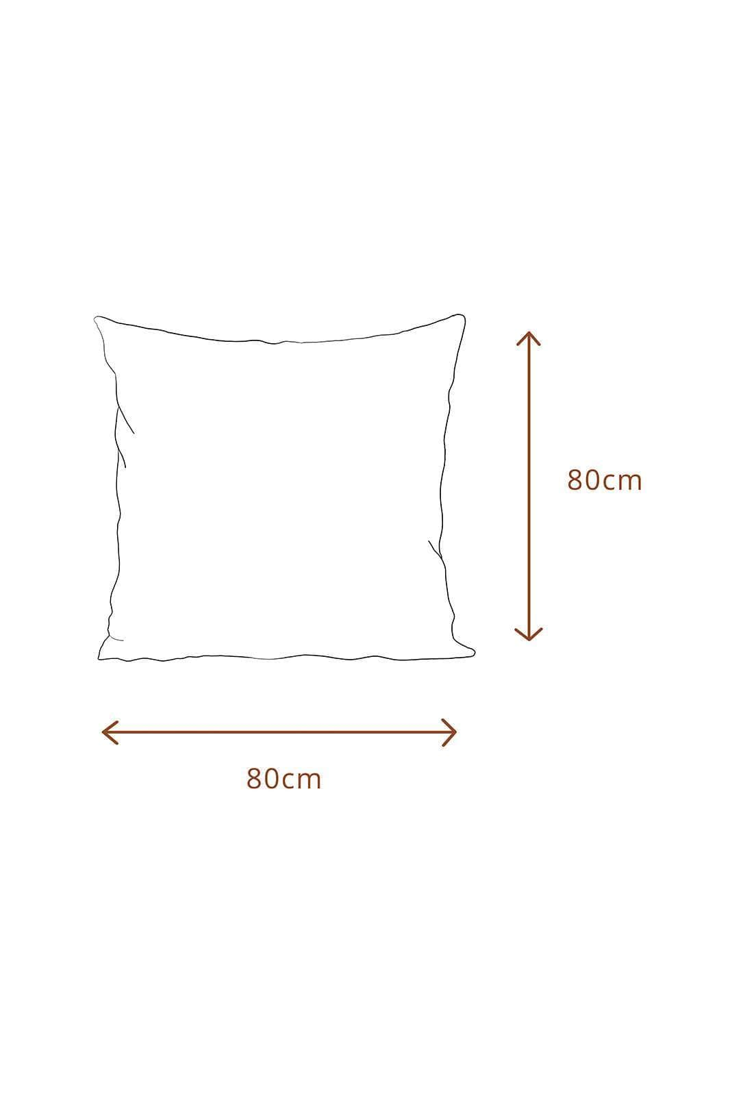 arkitaip Pillowslips 80 x 80cm / White The Ruffled Casita Linen Pillowslips Set in White