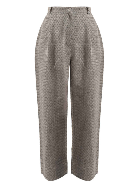 arkitaip Trousers The Wabi Linen Trousers in Black Argyle