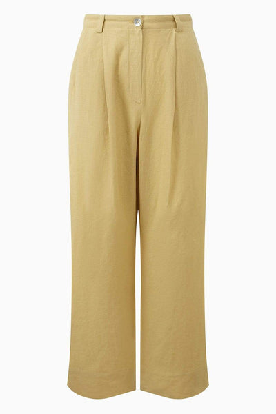 arkitaip Trousers The Wabi Linen Trousers in Lemon