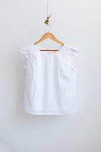 Petunia Frill Top - White