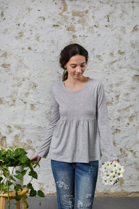 Jonquil Long Sleeve - Grey Marle