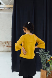 Sweet Pea Top - Mustard