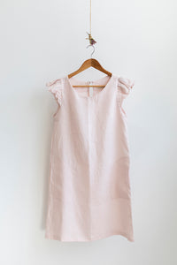 Petunia Frill Dress - Shell