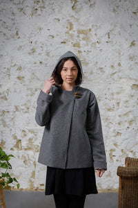 Red Ridding Jacket - Grey