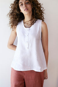 Tulip Singlet Top - White