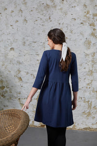 Pansy Dress - Navy