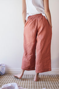 Hollyhock Pants - Red Clay