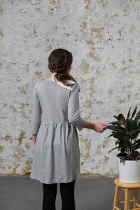 Pansy Dress - Grey Marle