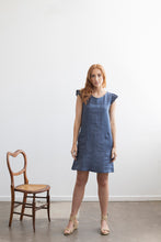 Petunia Frill Dress - Denim Blue