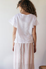 Carnation Flutter top - White