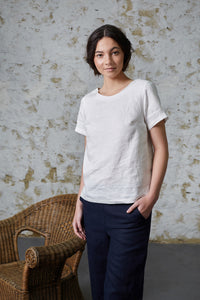 Snow Buttercup Tee - White