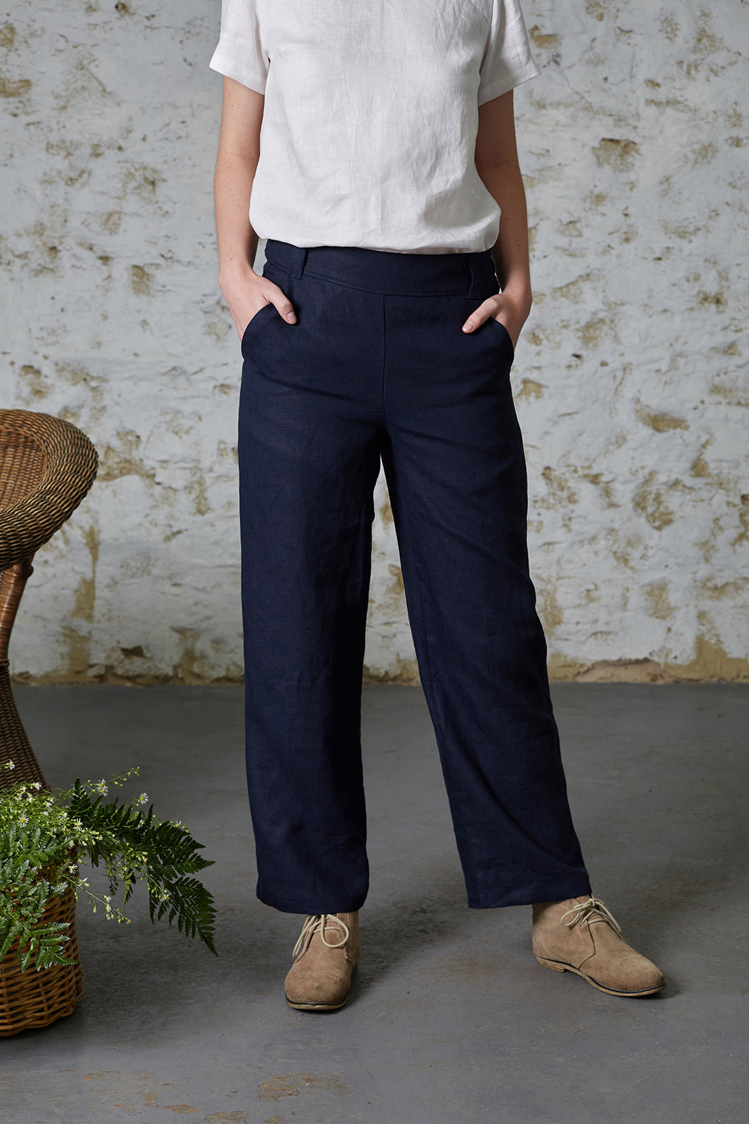 Billy Button Pant - Navy