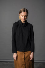 Winter Cherry Skivvy Top - Black