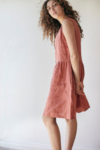 Gypsophila Dress Sleeveless - Red Clay