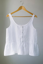 Raspberry Drop Singlet - White