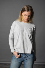 Delphinium Knit Top - Grey Marle