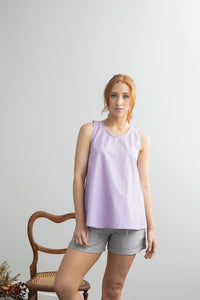 Hydrangea Singlet Top - Purple