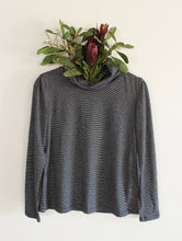 Winter Cherry Skivvy Top -Stripey