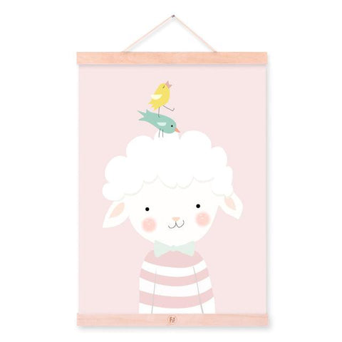 Poster sheep & bird