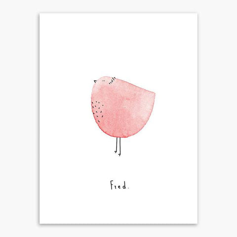 Poster birdy pink