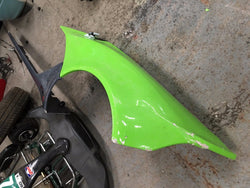 Zenos E10s Passengers Side Rear Wing With Skirt Green/Grey damaged