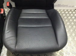 2003 Porsche 996 3.6 Carrera 4S Pair Black Leather Seats Embossed Headrest